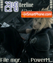 Cloud (Final Fantasty VII) es el tema de pantalla