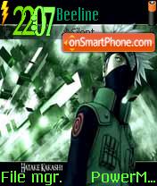 Hatake Kakashi 02 es el tema de pantalla