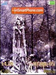 Winter Fairy Girl theme screenshot