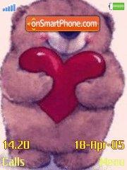 Bear with Heart es el tema de pantalla