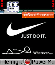 Nike Just Do It 01 theme screenshot