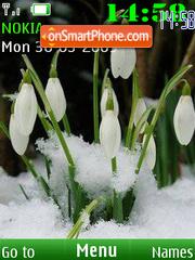 SWF snowdrop 12 wallpeper es el tema de pantalla