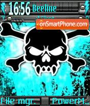 Neon Skull Theme-Screenshot
