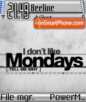 I Dont Like Mondays es el tema de pantalla