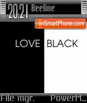 Love Black theme screenshot