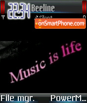 Music Is Life 01 tema screenshot