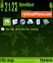 StarGreenSB theme screenshot