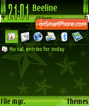 StarGreen theme screenshot