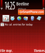 Call Red theme screenshot