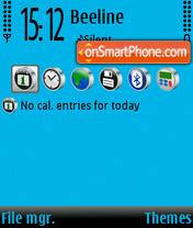 Capture d'écran Blue & blackBAR thème