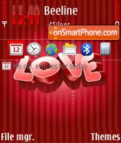 Скриншот темы Red Love 01
