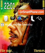 Rasta man 01 theme screenshot