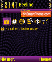 The X-treme theme screenshot