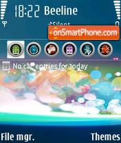 Fantasy Blue theme screenshot