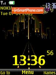 SWF night city animated tema screenshot