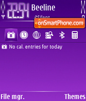 Purple Cutter es el tema de pantalla
