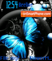 Blue Butterfly theme screenshot