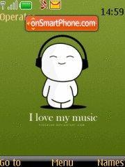 I Love Music theme screenshot