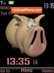 SWF clock pig animated es el tema de pantalla