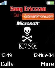 K750 es el tema de pantalla