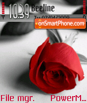Red Rose theme screenshot