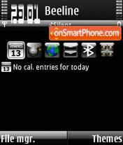 Скриншот темы Bianconero Style