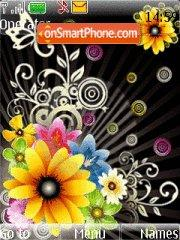 Colorful Flower theme screenshot