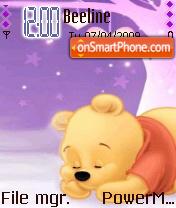 Sleeping Pooh theme screenshot