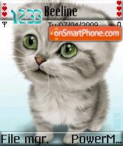 Cute Cat es el tema de pantalla