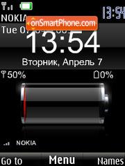 SWF clock $ indicators rus theme screenshot