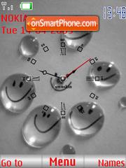Smile Clock es el tema de pantalla