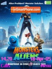 Monster vs Aliens es el tema de pantalla