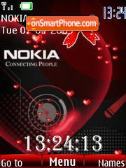 Clock love Nokia theme screenshot