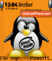 Tux Linux tema screenshot