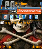 Скриншот темы Dark fire
