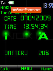 SWF clock Nokia animated theme screenshot