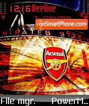 Arsenal 08 theme screenshot