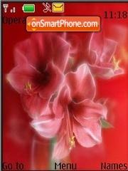 Red Flowers animated theme screenshot