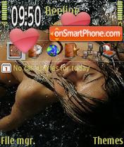 Скриншот темы Girl in Water