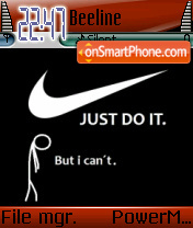 Nike Just Do It 5 theme screenshot