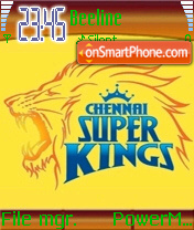 Chennai Super Kings 01 theme screenshot