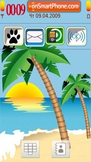 Summer Sea 01 theme screenshot