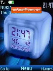 Скриншот темы Swf clock ice