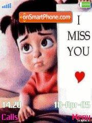 I miss u es el tema de pantalla