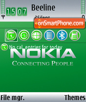 Green Nokia theme screenshot