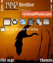 Grey Heron FP1 yI theme screenshot