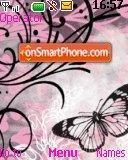 Pink Butterfly theme screenshot