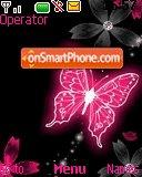 Lila Butterfly theme screenshot