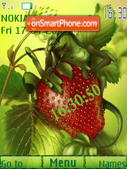 Скриншот темы Strawberry clock animated