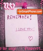 Remember 01 es el tema de pantalla